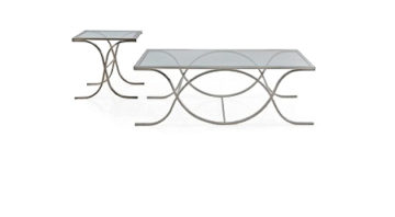 DNA Glass Silver Rectangular Coffee - End Tables