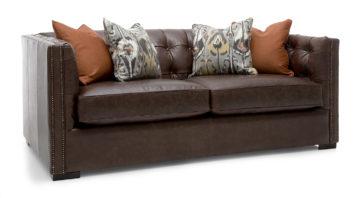Leeds Sofa - Brown Leather