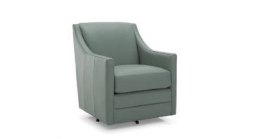 Liam Chair - Light Green Leather 1090 x 600