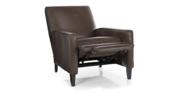 Linus Recliner - Open - Brown Leather  1090 x 600