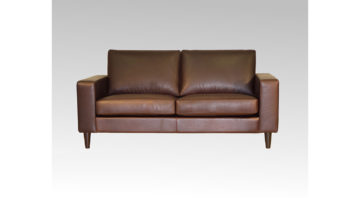 Logan Brown Leather Studio Sofa