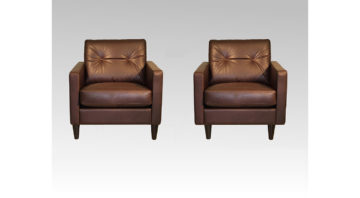 Logan Leather Chairs in Brown Leather