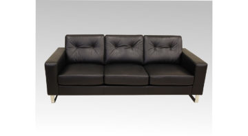 Logan Sofa in Blackish Brown Leather