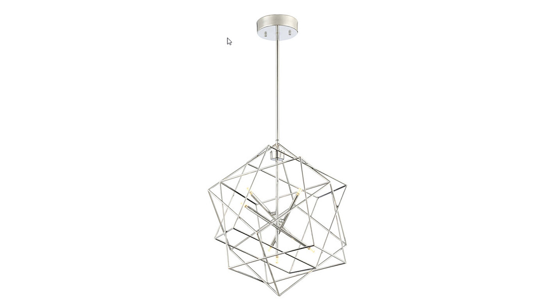 geo metric led chandelier